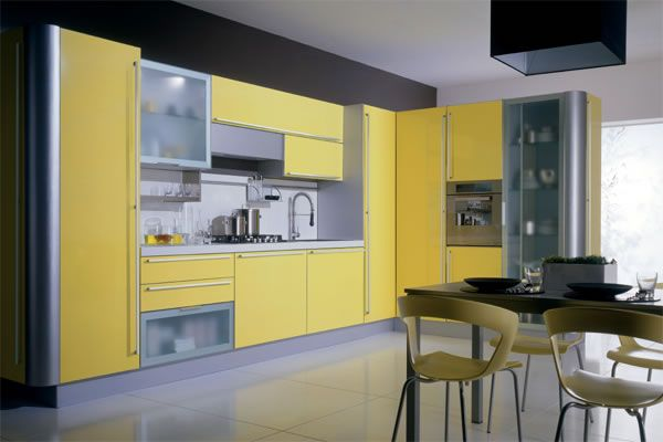 Modern Yellow Kitchen Cabinets