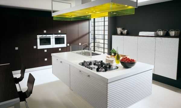photos of new kitchens on Home Design: Glamorous Kitchen Design