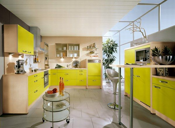 nobilia yellow kitchen 25 Modern Kitchen Designs That Will Rock Your Cooking World
