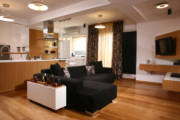 stylish apartment design in Timisoara