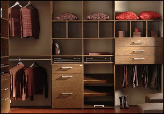 closet organization brown How to Maximize Every Inch of a Small Closet