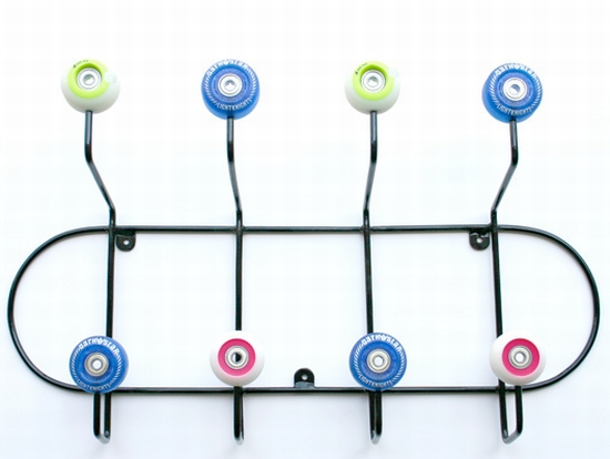 coat hanger 25 Functional Furniture Designs Inspired by Skateboards