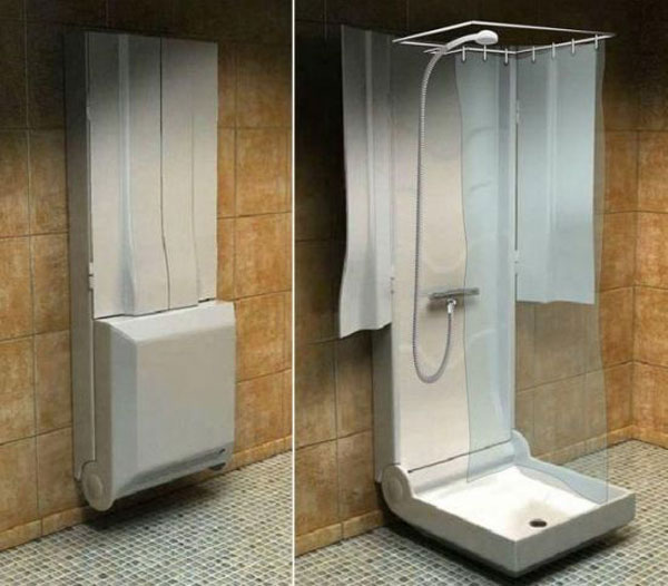 Amazing Folding Shower for Small Bathrooms