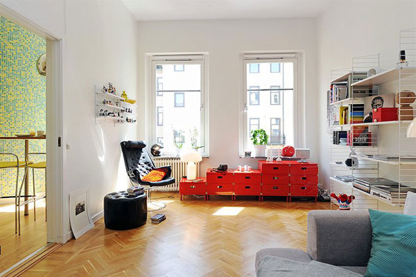 Beautiful and Fresh Apartment Invaded by Color