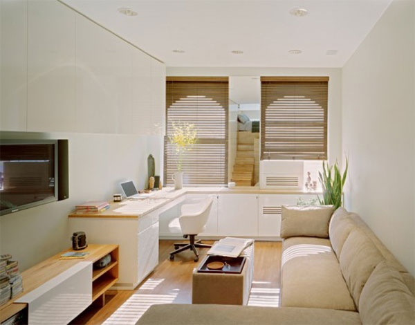 very tiny loft studio design 2 554x434 Incredible Space Maximization in a Small Studio Apartment