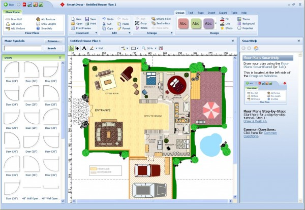 SmartDraw Floor Plan e1281910738799 10 Best Free Online Virtual Room Programs and Tools