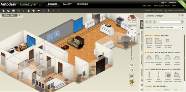 autodesk homestyler 2 e1281545793555 10 Best Free Online Virtual Room Programs and Tools