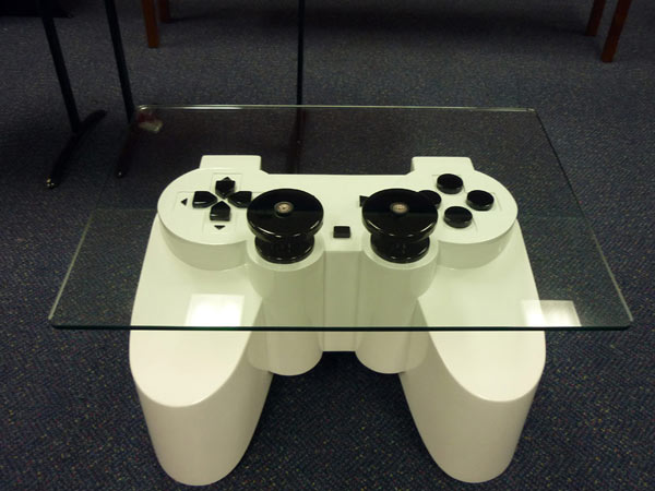 Coffee Table Inspired by a PlayStation Controller