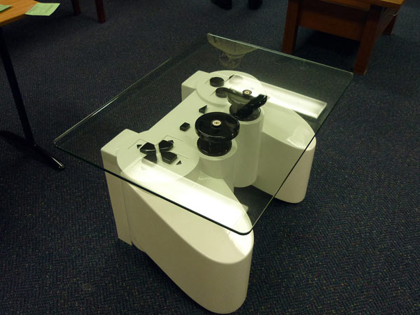 playstation table2 Coffee Table Inspired by a PlayStation Controller