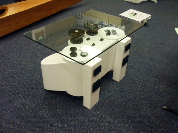 playstation table5 Coffee Table Inspired by a PlayStation Controller
