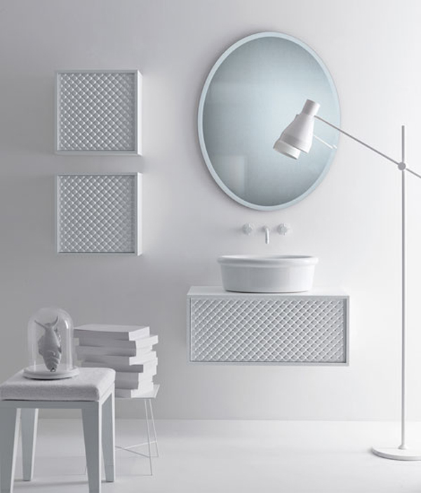 COCO Falper 12 Gorgeous Textured Bathroom Furniture in Black and White from Falper