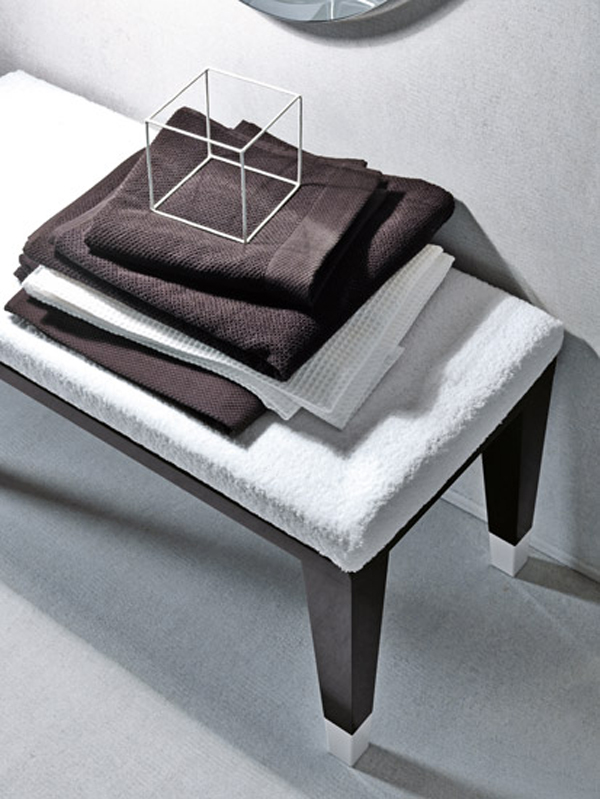 COCO Falper 8 Gorgeous Textured Bathroom Furniture in Black and White from Falper