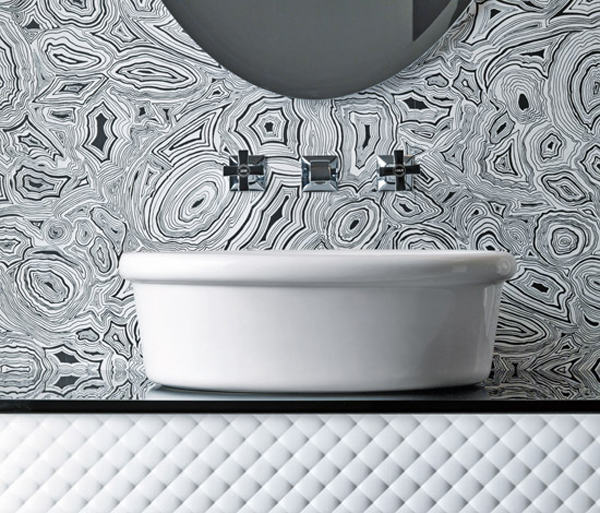 COCO Falper Gorgeous Textured Bathroom Furniture in Black and White from Falper