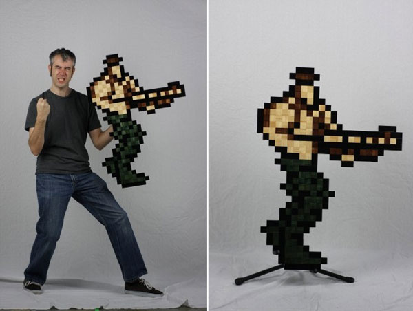 Contra alone 329x494 Pixelated Retro Game Characters: Which Ones Your Favourite ?