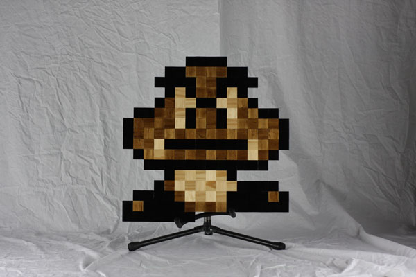 Fun Pixel Wooden Decoration Featuring Retro Computer Games