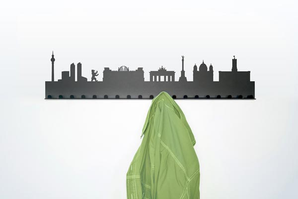 city coat rack2 City Skyline Coat Rack by Radius Design