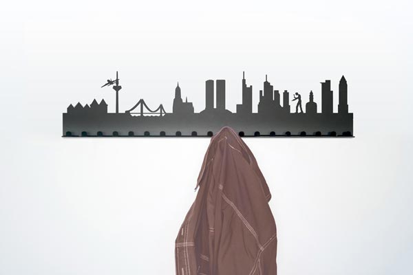city coat rack3 City Skyline Coat Rack by Radius Design