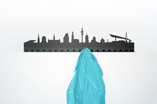 city coat rack4 City Skyline Coat Rack by Radius Design