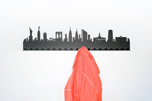 city coat rack7 City Skyline Coat Rack by Radius Design