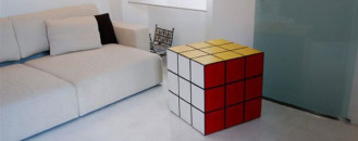 Rubik Cube Locker, a Puzzling Furniture Item