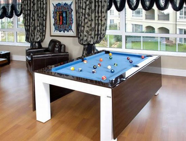 Amazing Dining And Billiard Table For Small Spaces Freshomecom