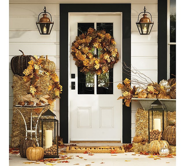Welcome Guests With A Beautiful Autumn Wreath At Your Front Door: