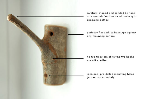 image H 1 Original Decorating Wooden Hooks For Rustic Interiors