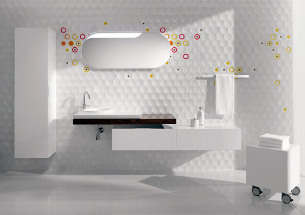 lagloriette01 Set Up Your Own Cube&Dot Pattern for a Charming Bathroom