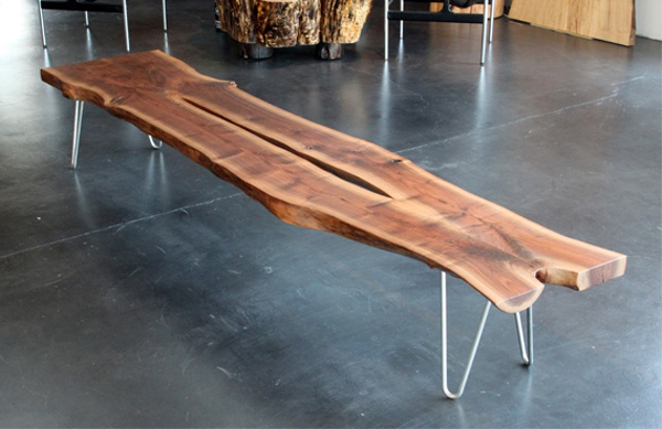 lg962 0 walnut slab bench 15 Urban Furniture Designs You Wish Were on Your Street