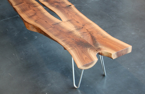 lg962 2 walnut slab benchwalnut slab benchwalnut slab bench 15 Urban Furniture Designs You Wish Were on Your Street