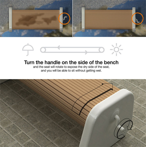 rolling bench 15 Urban Furniture Designs You Wish Were on Your Street