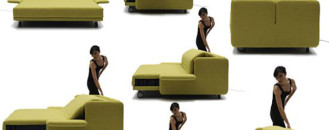 WOW Sofa Becomes a Practical Bed with Just the Push of a Button