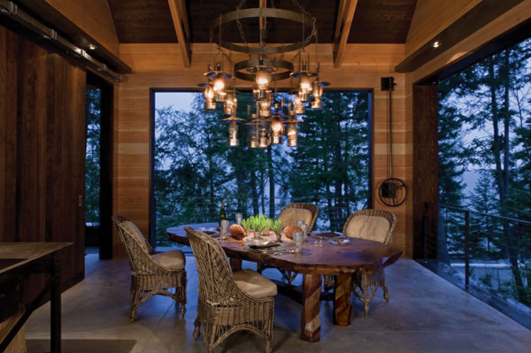 1285702237 27stonecreekcamp lodge dining room 1000x665 Stone Creek Camp, Amazing Natural Homes and Breathtaking Landscapes