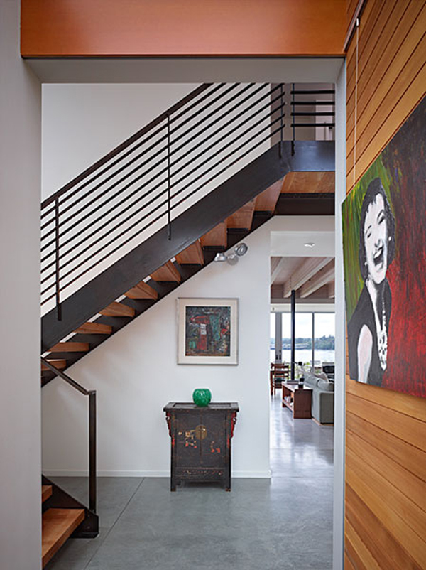 Wingpoint home 10 Riverfront Home for Artists : The Incredible Wingpoint Residence