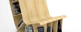 Unconventional Chair and Miniature Bookcase : Bookseat