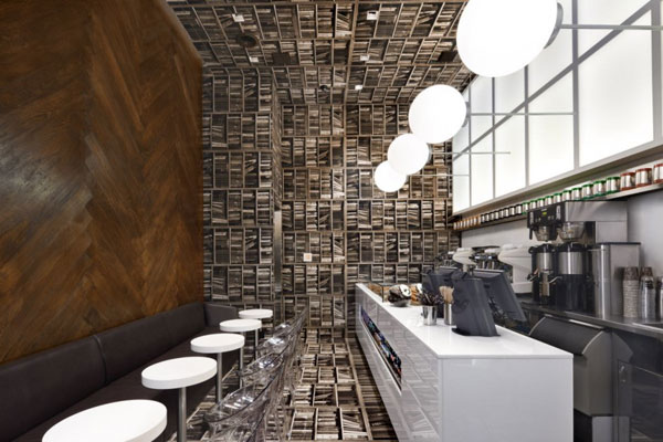 creative caf design inspired by a library in new york freshome com rh freshome com creative design cafe menu