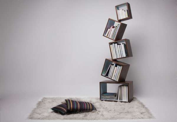 equilibrium 251010 01 A Bookcase Defying Gravity: Equilibrium by Malagana Design