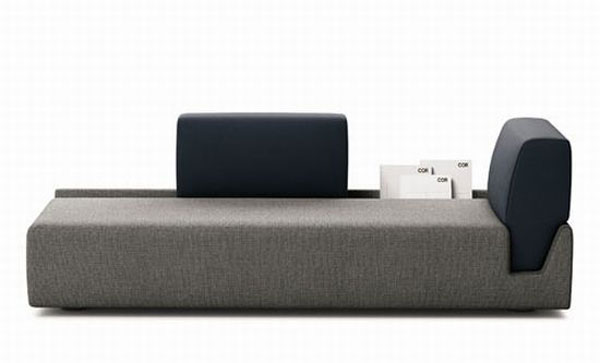 fossa sofa 02 hiLBm 24429 Elegant Contemporary Sofa with Detachable Back Rests