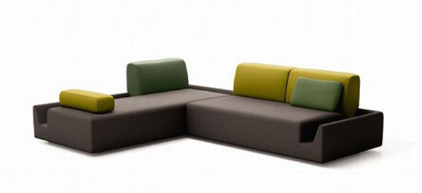 fossa sofa 04 LtsjR 24429 Elegant Contemporary Sofa with Detachable Back Rests