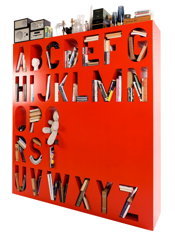 COLOURFUL ALPHABETIZED STORAGE SPACE OR ROOM DIVIDER