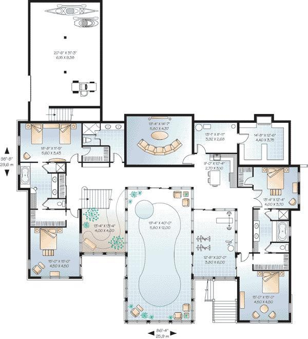 Hotel indoor pool plan  Minimalist Interior Design: How to Purchase the Right House Plans