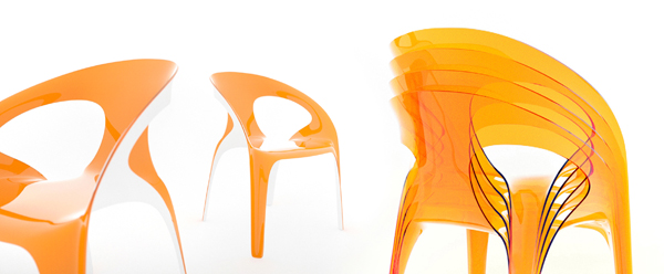 28 Vivid and Colorful Stacking Chair Design: Juicy by Angelo Tomaiuolo