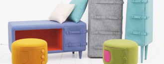 Fresh and Colourful Button up Furniture from KamKam