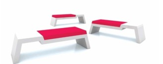 Comfortable and Modern Foam Coated Bench for Two