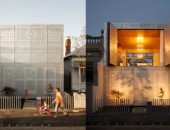 Perforated House 170x130 Architecturally Differentiated Home in an Urban Neighbourhood: The Camperdown House