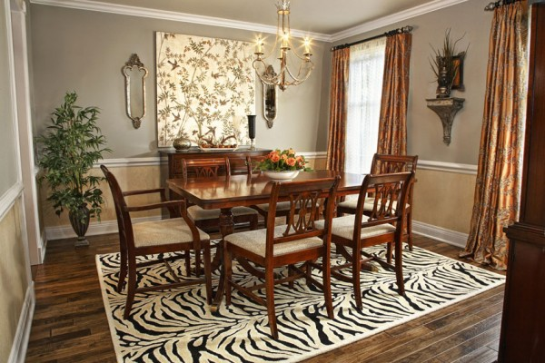 How to choose the perfect area rug for your dining room - Dining room area rugs ideas ...