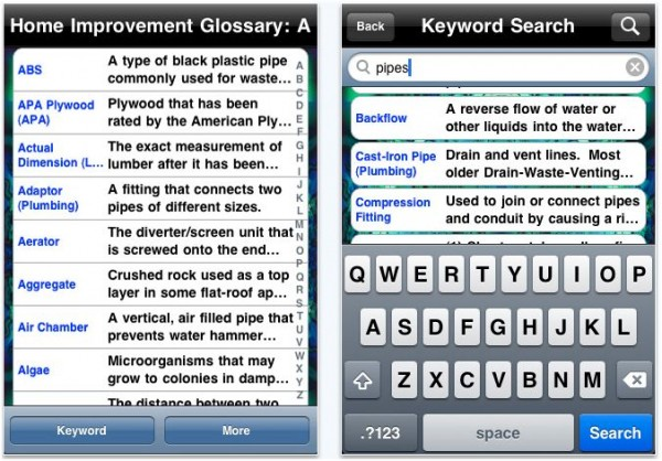 iphone hi glossary e1288920698979 20 Best iPhone Home Improvement Apps to Help you Do it Yourself