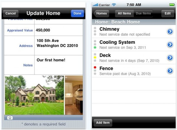 iphone homeMaint e1288913799143 20 Best iPhone Home Improvement Apps to Help you Do it Yourself