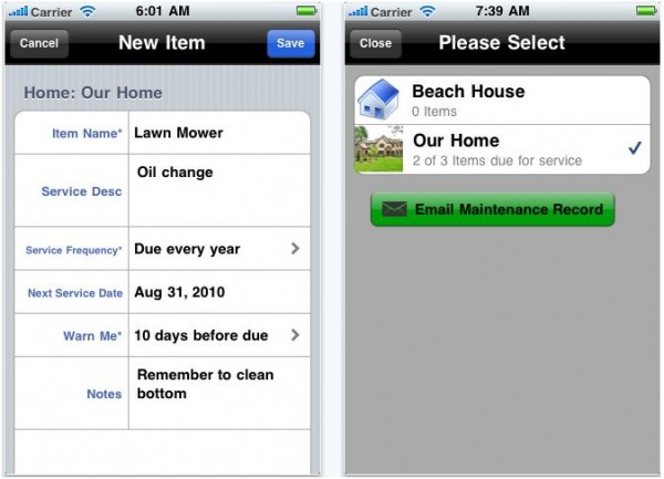 iphone homeMaint2 e1288913942138 20 Best iPhone Home Improvement Apps to Help you Do it Yourself