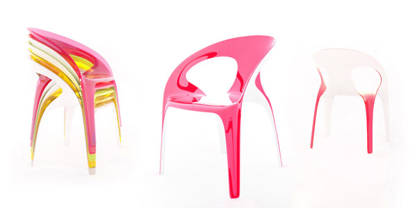 juicy chair23 Vivid and Colorful Stacking Chair Design: Juicy by Angelo Tomaiuolo